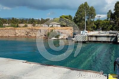 The Corinth Canal submersible bridge