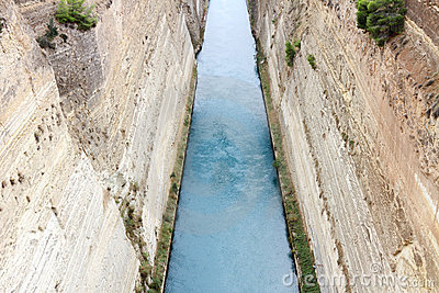 Corinth channel, Greece.