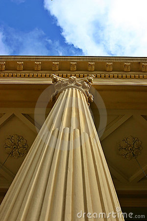 Corinthian Column With Clouds