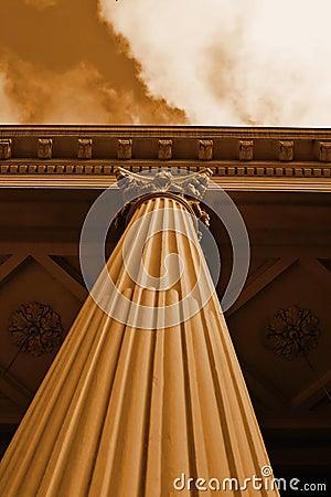 Corinthian Column Sepia