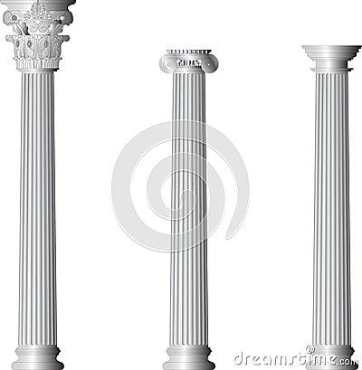 Corinthian Ionic Doric columns