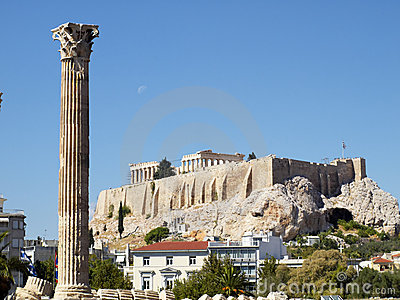 Corinthian order column of Olympian Zeus temple