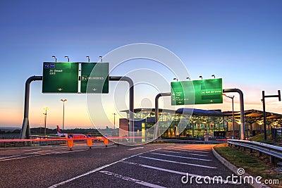 Cork airport at nsunset