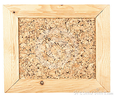 Cork board  in a frame