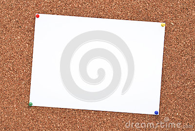 Cork board + paper