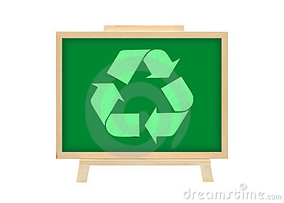Cork board recycle logo graph business concept