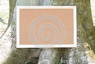 Cork board and tree