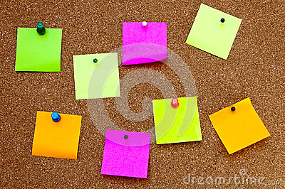 Cork Bulletin Board Stock Image - Image: 26207821