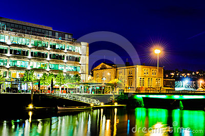 Cork City by night, Ireland