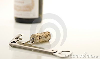Cork with a corkscrew