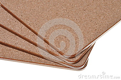 Cork mat with brown border
