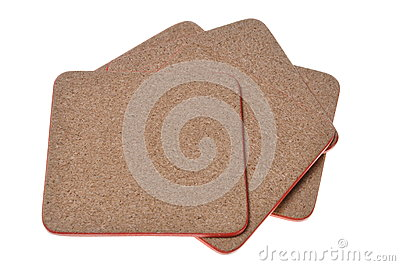 Cork mat with red border