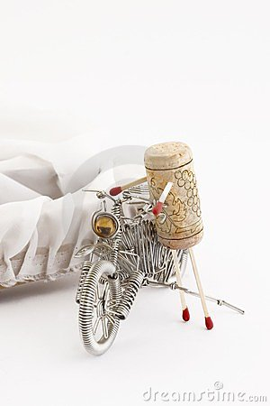 Cork on a motorcycle