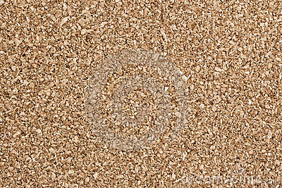 Cork pinboard surface.