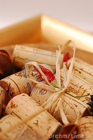Free Corks And Golden Plate Stock Image - 4287071