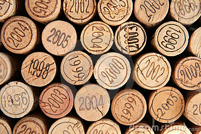 Corks with dates