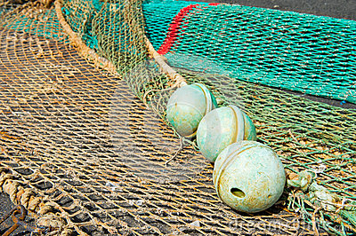 Corks and fishing nets