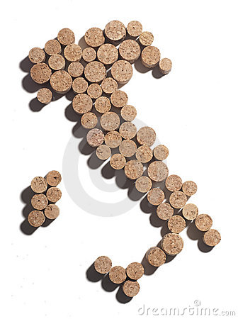 Corks in shape of Italy