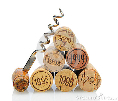 Corks with Vintage Date