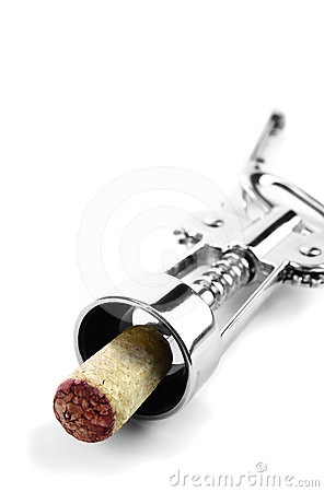 Corkscrew with cork attached