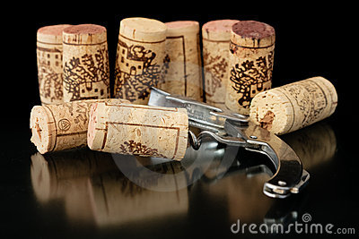 Corkscrew with corks 2