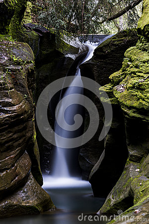 Free Corkscrew Falls - Boch Hollow State Nature Preserve, Ohio Stock Photography - 82717782