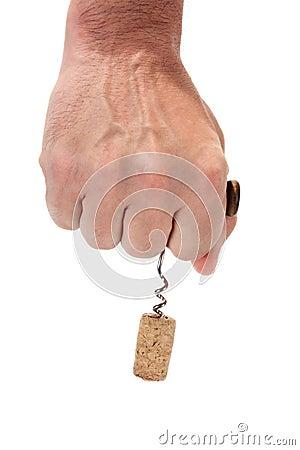 Corkscrew in hand