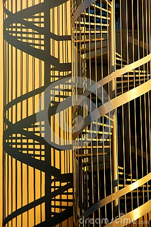 Free Corkscrew Stairs And Shadows Stock Image - 117737811