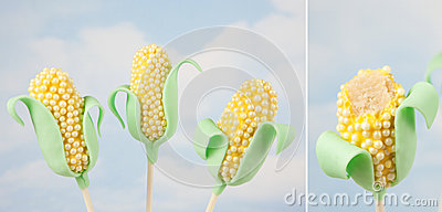 Corn Cake Pops Royalty Free Stock Photography Image