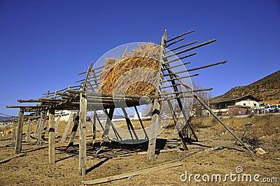 Corn drying rack