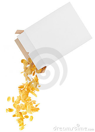 Free Corn-flakes Strewed From Box Stock Image - 16546321