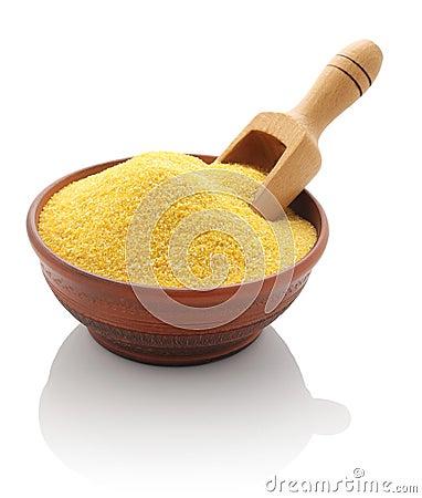 Corn grits clay bowl