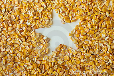 Corn kernels with star-shaped hole