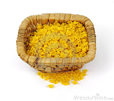 Corn Pasta Shells Overhead View