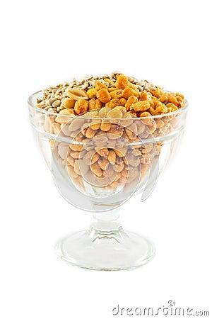 Corn, Peanut and Sunflower Seeds