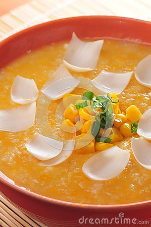 Corn soup with lily