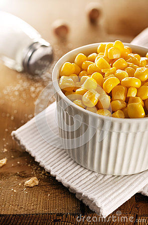 Corn in white cup