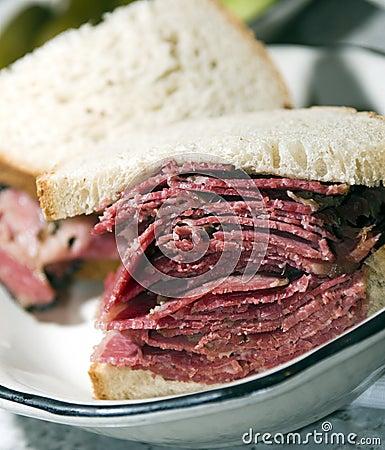 Free Corned Beef Sandwich Rye Bread Stock Photos - 8278493