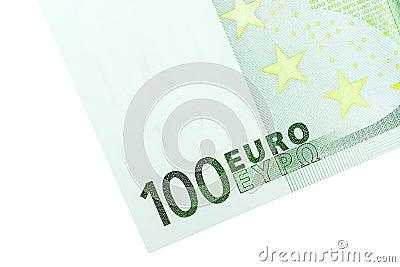 Corner of 100 Euro Banknote