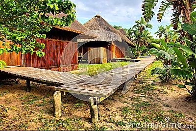 Corner of African village