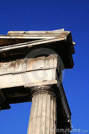 Corner of ancient Greek temple