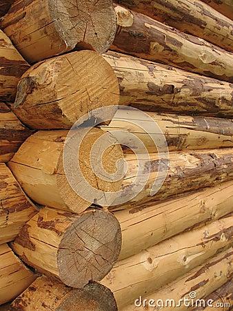 Corner baths of round logs