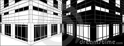 Corner Of Business Building Negative Vector 03