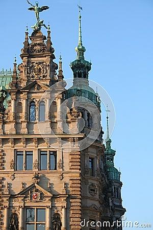 Corner of the Hamburg Rathaus