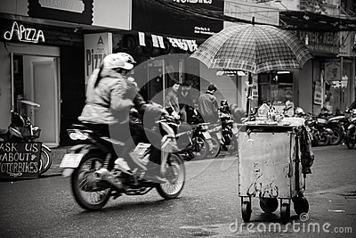 A Corner of Hanoi Editorial Stock Image