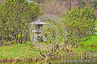 Corner of a Japanese garden