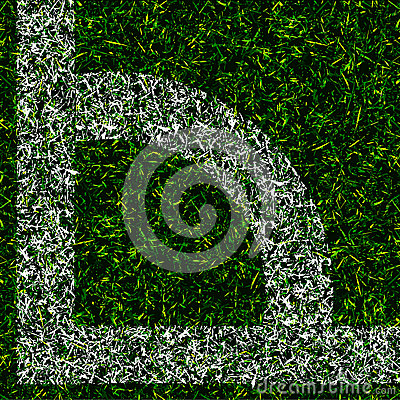 Corner kick grass background