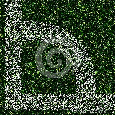 Corner kick grass background
