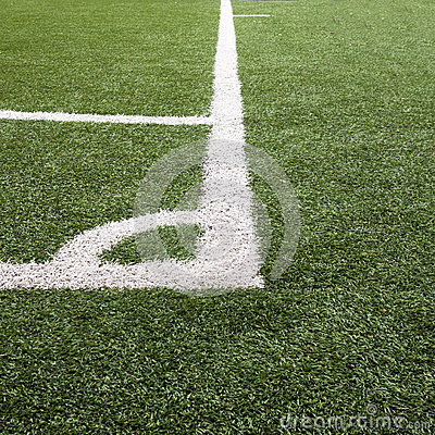 Corner Lines on Soccer/Futsal Field