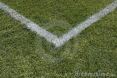 Corner lines of a sports field